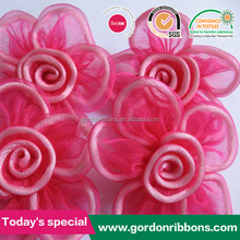 organza ribbon flower,ribbon flowers making,handmade ribbon flower
