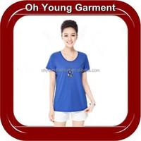 Wholesale cheap 100 cotton plus size women clothing custom design tshirt