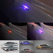 2x Solar RGB LED Car Fender Side Indicators turn Signal Panels lights