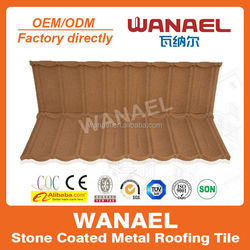 Chinese best reliable roof tile factory Wanael 50 years life span metal roof tile/aluminum roof prices