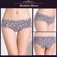 New model fashion leopard printed women brief underwear cotton women underwear