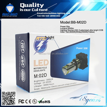 Factory Promotion!!!CRE E 30w 3000LM 6000K H4 H6 H11 motorcycle light high power led headlight m02d in anti-glare design