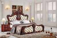 European classic design bedroom furniture antique wooden bed