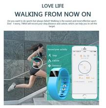Bluetooth4.0 Waterproof Pedometer Sleep Monitor OLED Screen Silicon Bracelet Wrist Band