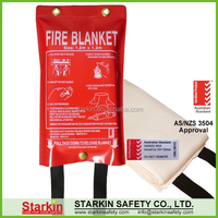 Factory for sale 1m x 1m fire blanket with AS/ NZS 3504 approval