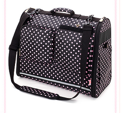 Pink Dot Pet Carrier Bag outdoor carrier