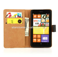 mobile phone cases and bags, genuine leather wallet flip case for nokia lumia 625, for nokia lumia 625 cover case