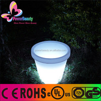 remote control solar powered multi color flower pot with solar charging