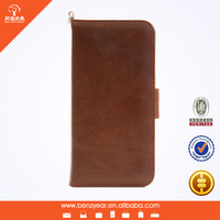 latest oil waxed leather 4.7 inch handle smart phone case for iphone 6 leather