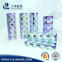 plastic film sealer for jelly cup sealer film,good barrier,easy to tear off film