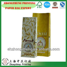 White kraft paper flour bag, 2.5kg Wheat Flour Bag made bu machine in China