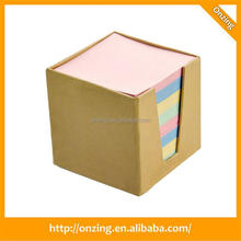Fancy square memo cube with plastic box for office