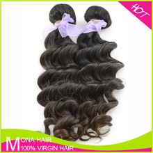 Double machine wefts 6a one donor cheap Brazilian virgin hair fix hair