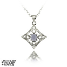 [ XDZ-1385 ] 925 Sterling Silver Pendant with Purple Moonstone