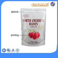 White ziplock plastic bag pe bag with colorful printing
