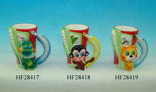 ceramic 3D animal mug