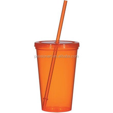 Cool single wall Plastic Ice Tumbler for promotion