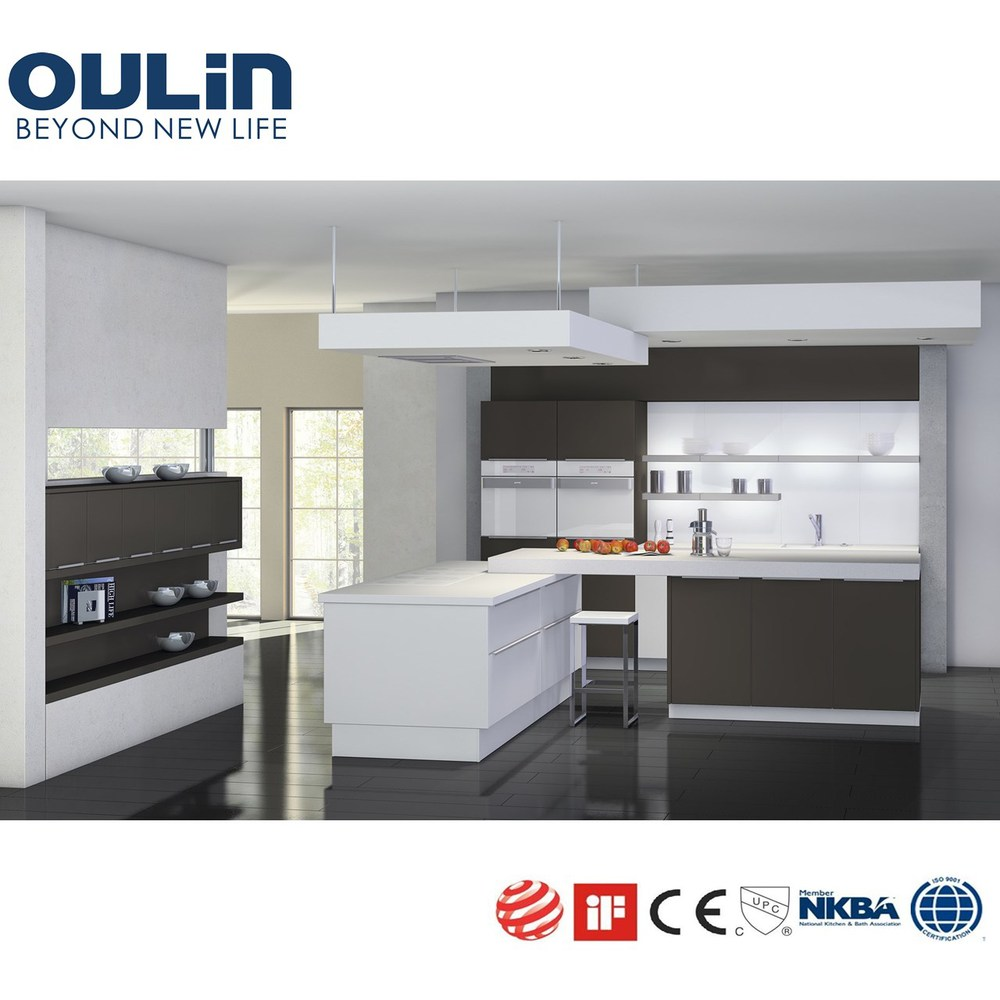 Best selling top quality wood veneer and lacquer kitchen for Best quality kitchen cabinets