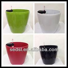 rodada vaso plástico,cor brilhante plástico vaso