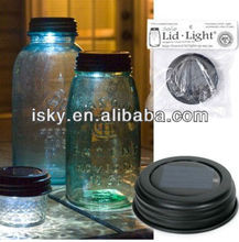 Solar LED Light Rustic Mason Jar Lid