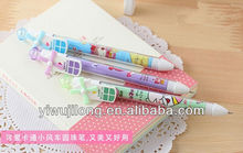 2014 plastic colorful ball pen with windmill for office