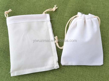 Customized Ivory Velvet drawstring pouch bags High-quality jewelry packing bag fashion christmas gifts bags