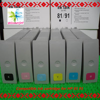 China gold supplier Wide format compatible ink cartridge for HP 81 / 91 ink cartridge