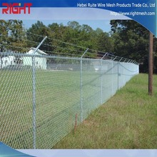 Chain Link Fence Panels, Chain Link Fence Top Barbed Wire, Used Chain Link Fence for Sale Factory