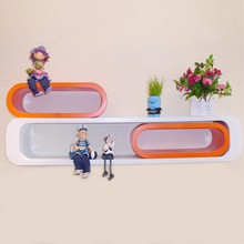 Decorative MDF shelves / Wooden wall display cube shelf SET3
