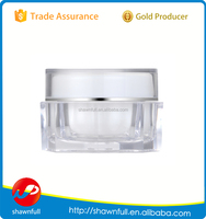 Clear Octagonal plastic 20g container for cosmetics