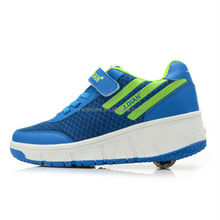 china brand sport roller shoes sneakers men, adults retractable roller skate shoes with mesh leather for male female
