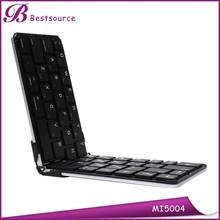 New Aluminum folding bluetooth keyboard for galaxy tablet