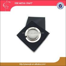 Black & White Color Washlight Stone Round Shape Bag Hanger For Promotion