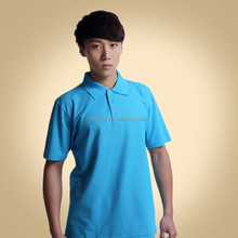professional classic blue work polo shirt