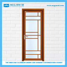New style double frosted glass internal swing bathroom door