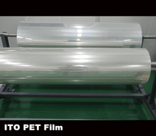 low resistance 18ohm conductive transparent ito pet film for OPV Solar cell Film