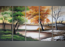 handmade the desert trees abstract group oil painting 49301