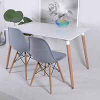 China modern cheap wooden dining table and chair