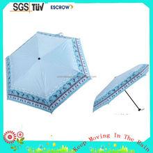 Solid Color Nice Looking 3 Fold Mini Umbrella For Rain and Sun 3 Fold Mini Manual Open Umbrella