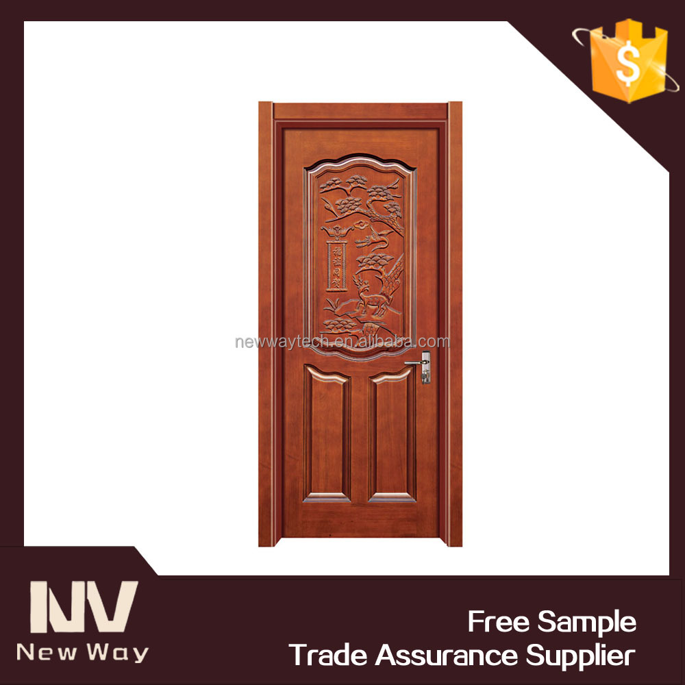 Latest design modern carved exterior solid teak wood main for Latest designs of main doors
