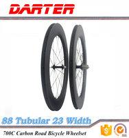 700C 88mm tubular Full carbon road bike wheels