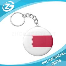 Qatar National Flag Basic Round Button Keychain & Key chian