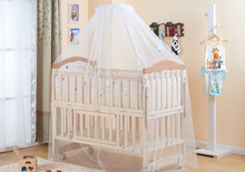baby furniture baby gift cherry and narural color solid wood crib HP-996