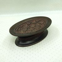Popular Heart Design ORB Polyresin Bath Collection Gift Soap Dish