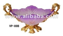 Crystal lotus shape fashion glass and copper fruit plate