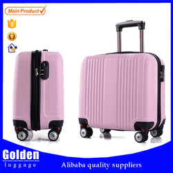 New design airport luggage bag stable and durable ABS suitcase roller boardng luggage