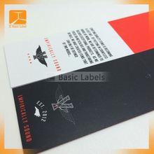 special folded hang tag