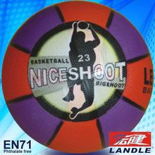 2013 best new official size new style rubber made basketball design