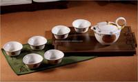 Low price bamboo kungfu tea set with tea tray SNBKTS012