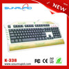 RBG LED Backlit USB Gaming Keyboard with Laser Etched Luminous LOGO